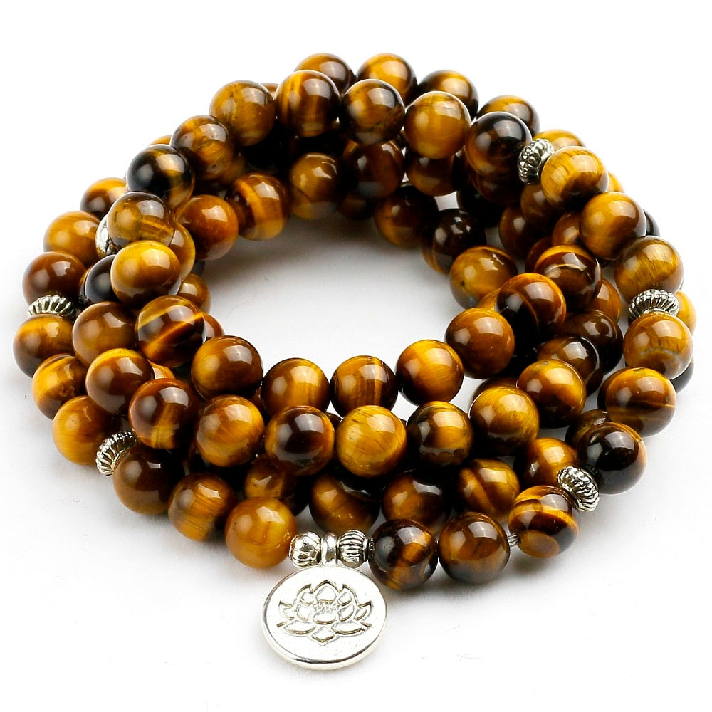 Bold Tiger Eye Stone - Bracelet Necklace