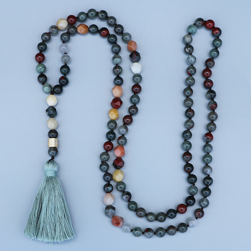 African Bloodstone Beads Necklace