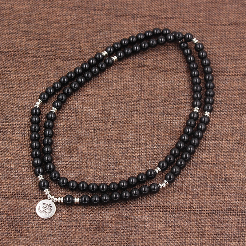 Strength Black Onyx Stone necklace