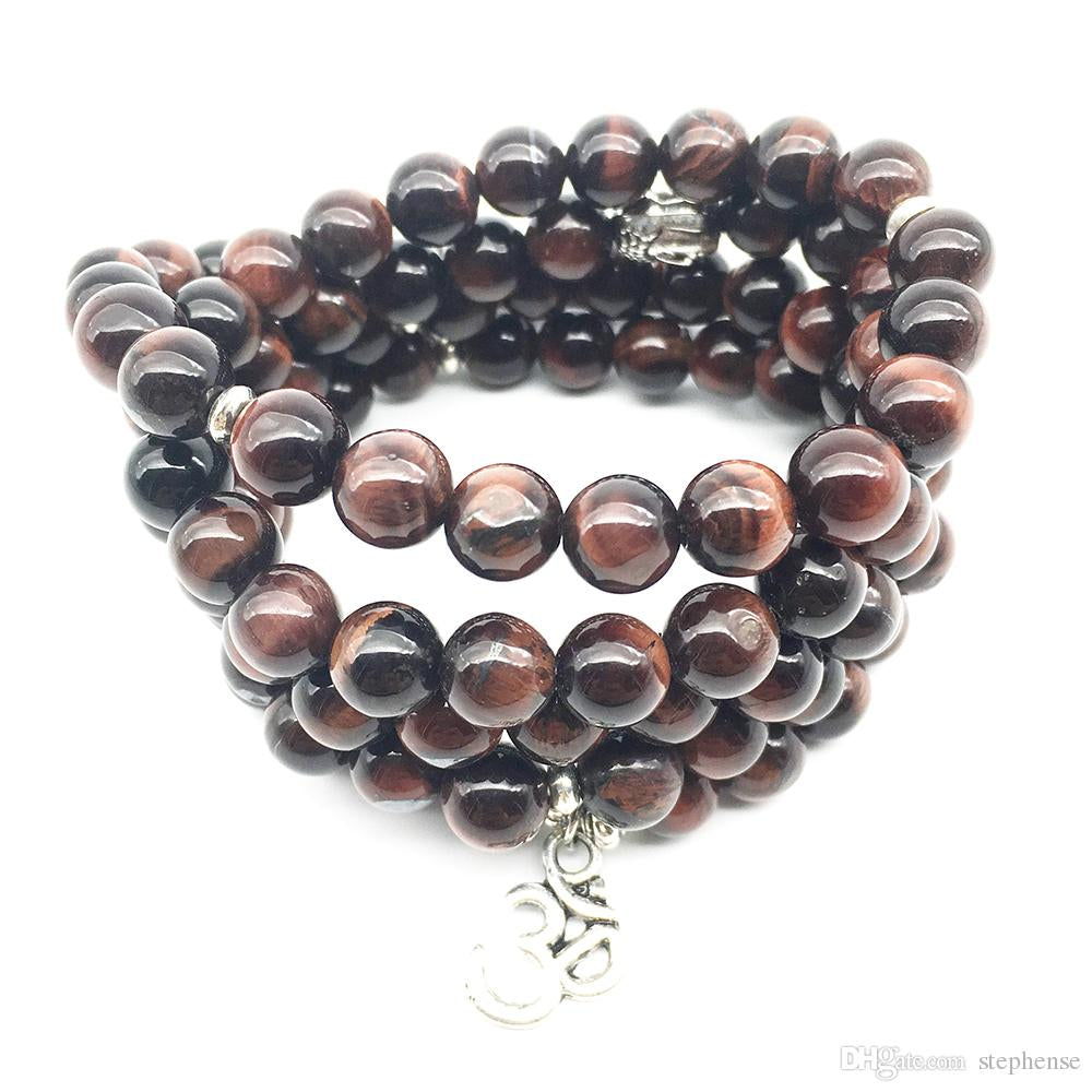 Just In!  Red Tiger Eye Stone Bracelet Ohm