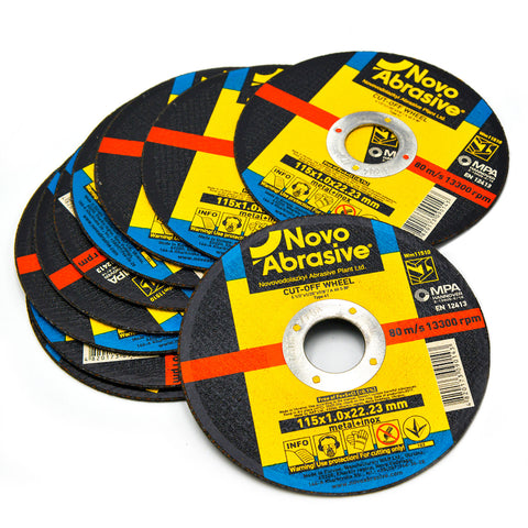 Image of NOVOABRASIVE Metal Cutting Disc 115 x 1 x 22.23 mm - Novotools