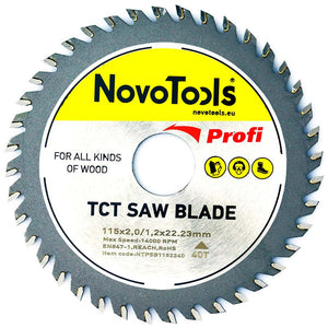 NOVOTOOLS Circular Saw Blade 115 x 22 mm x 40 Teeth - Novotools