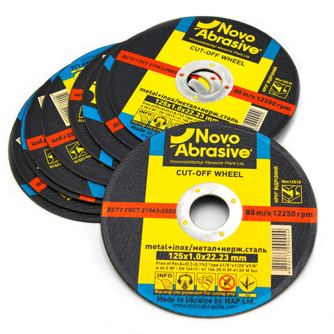 NOVOABRASIVE Metal Cutting Disc 125 x 1 x 22.23 mm - Novotools