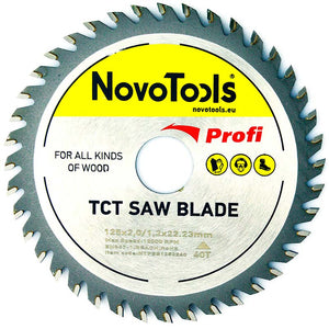 NOVOTOOLS Circular Saw Blade 125 x 22 mm x 40 Teeth - Novotools