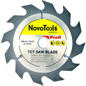 NOVOTOOLS Circular Saw Blade 165 x 20 mm x 12 Teeth - Novotools