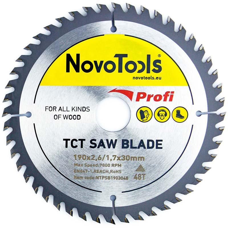 NOVOTOOLS Circular Saw Blade 190 x 30 mm x 48 Teeth - Novotools