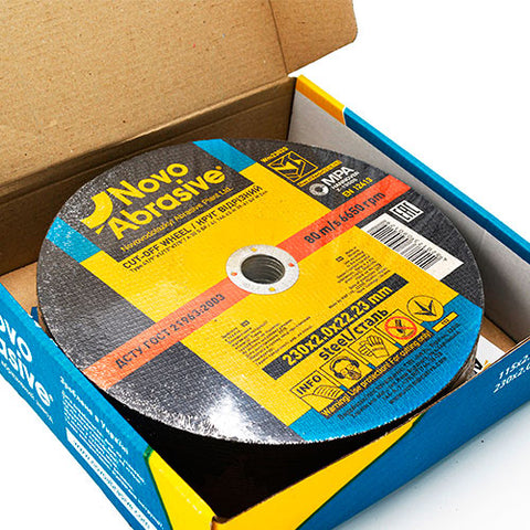 NOVOABRASIVE Metal Cutting Disc 230 x 2 x 22.23 mm - Novotools