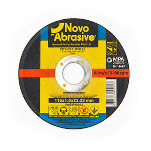 NOVOABRASIVE Metal Cutting Disc 115 x 1.6 x 22.23 mm - Novotools