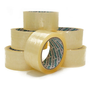NOVOTAPE Heavy Duty Clear Packaging Tape 6 Rolls 48mm x 66m - Novotools