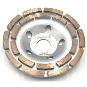 NOVOTOOLS Grinding Diamond Disc 125 x 22.2 mm Double Row - Novotools