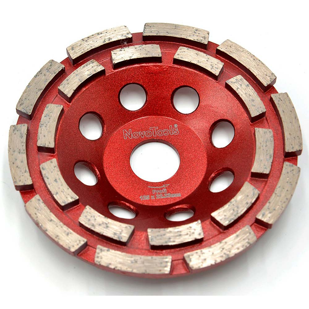 NOVOTOOLS Grinding Diamond Disc 125 x 22.2 mm Double Row Professional Quality - Novotools