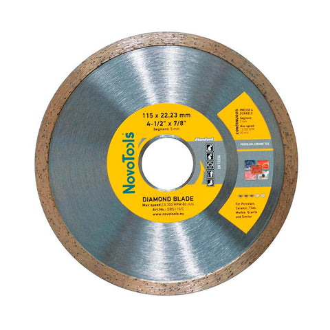Image of NOVOTOOLS Diamond Blade 115 x 22.2 mm Continuous (Tile) - Novotools