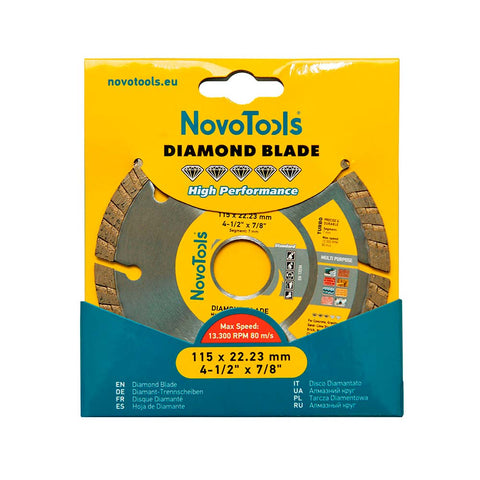 NOVOTOOLS Diamond Blade 115 x 22.2mm Turbo - Novotools