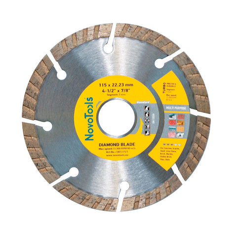 Image of NOVOTOOLS Diamond Blade 115 x 22.2mm Turbo - Novotools