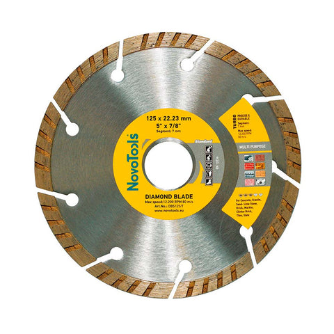 Image of NOVOTOOLS Diamond Blade 125 x 22.2mm Turbo - Novotools