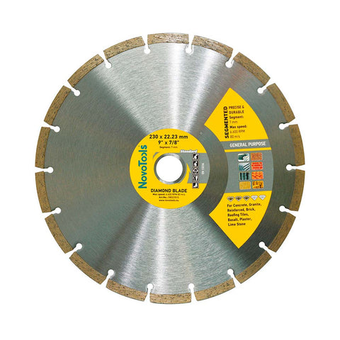 Image of NOVOTOOLS Diamond Blade 230 x 22.2 mm Segmented - Novotools
