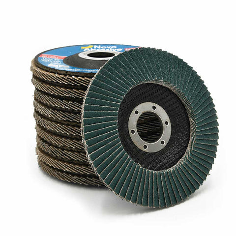 NOVOABRASIVE Zirconia Flap Disc 115mm Grit 40 - pack of 10 pcs - Novotools