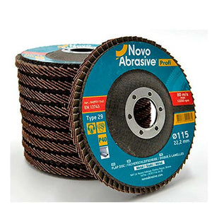 NOVOABRASIVE Flap Disc 115mm Grit 40 - pack 10 pcs - Novotools