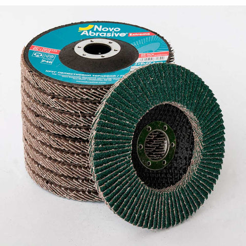 NOVOABRASIVE Zirconia Flap Disc 125mm Grit 40 - pack of 10 pcs - Novotools