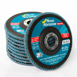 NOVOABRASIVE Zirconia Flap Disc 125mm Grit 60 - pack of 10 pcs - Novotools