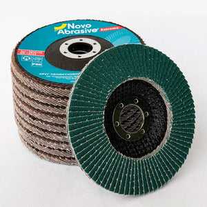 NOVOABRASIVE Zirconia Flap Disc 125mm Grit 120 - pack of 10 pcs - Novotools