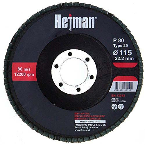 HETMAN Flap Disc 115mm Grit 80 - pack 10 pcs - Novotools