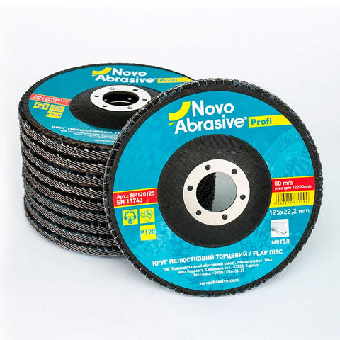 Image of NOVOABRASIVE Flap Disc 125mm Grit 120 - pack 10 pcs - Novotools