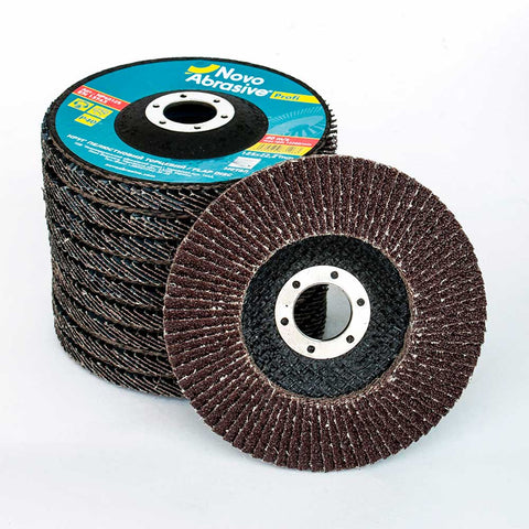 NOVOABRASIVE Flap Disc 125mm Grit 40 - pack 10 pcs - Novotools