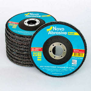 NOVOABRASIVE Flap Disc 125mm Grit 80 - pack 10 pcs - Novotools