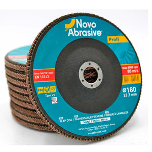 NOVOABRASIVE Flap Disc 180mm Grit 40 - pack 10 pcs - Novotools