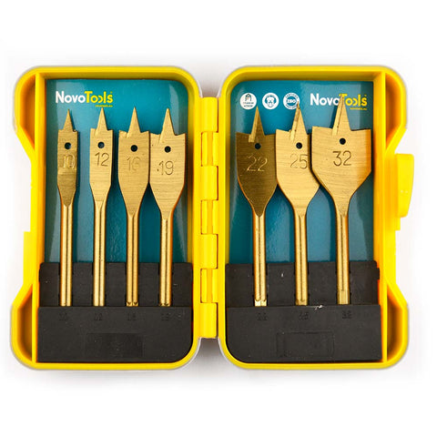 Image of NOVOTOOLS Selfcut Flat Spade Wood Bits Set of 7 pcs - Novotools