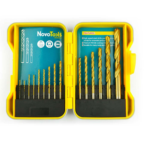 Image of NOVOTOOLS HSS Drill Bit Set for Steel (15 Pieces) - Novotools
