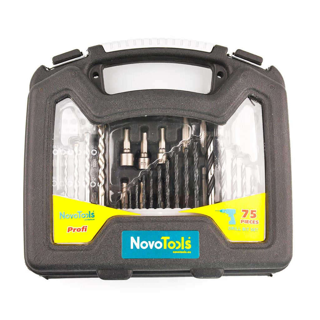 NOVOTOOLS Drill and Screwdriver Bits Set (75 pcs) - Novotools