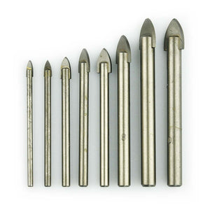 NOVOTOOLS Glass Drill Bits 3-10 mm (Set 8 Pieces) - Novotools