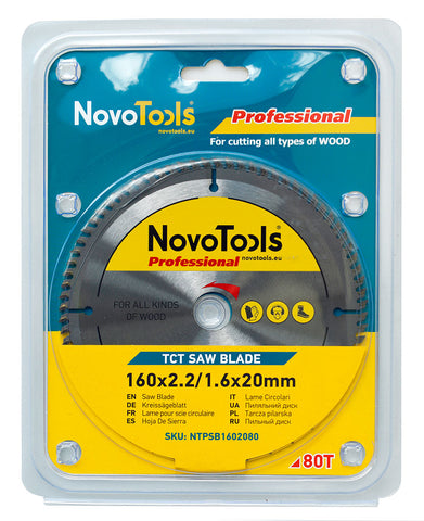 Image of NOVOTOOLS Circular Saw Blade 165 x 20mm x 80 Teeth - Novotools