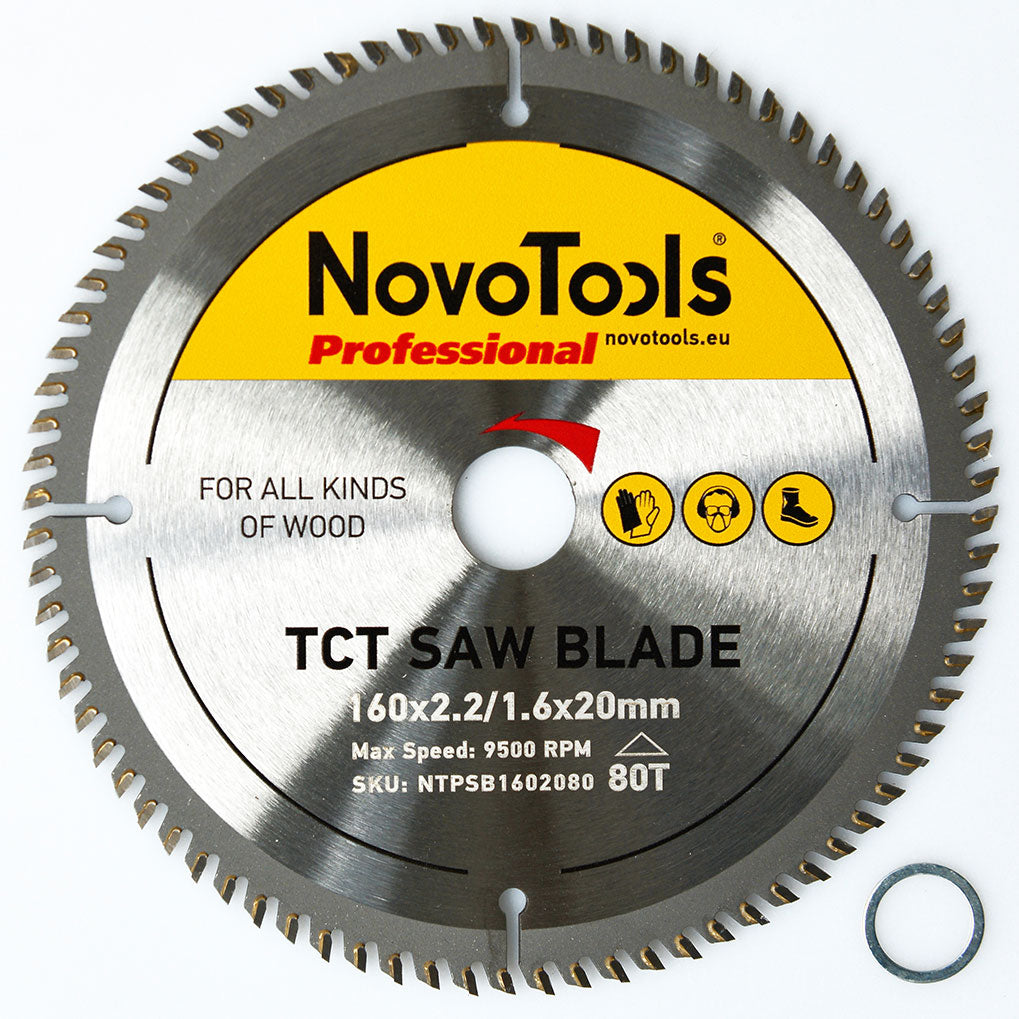 NOVOTOOLS Circular Saw Blade 165 x 20mm x 80 Teeth - Novotools
