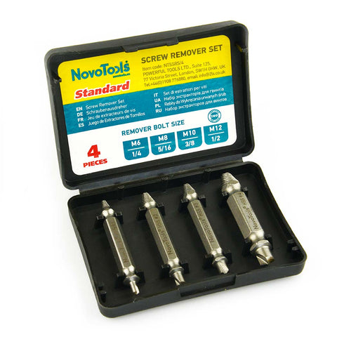 Novotools Damaged Screw Remover and Extractor (4 Pieces) - Novotools