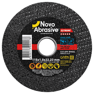 Cutting Discs 115 x 1.0 mm, pack of 10 pcs for Stainless Steel and Metal - Novotools