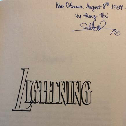 Lightning (Signed and dated by Author Title Page)