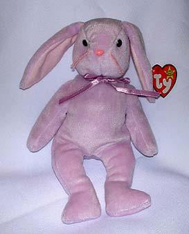 Hoppity the Pink Bunny/Claude Hang Tag and Hoppity Tush Tag