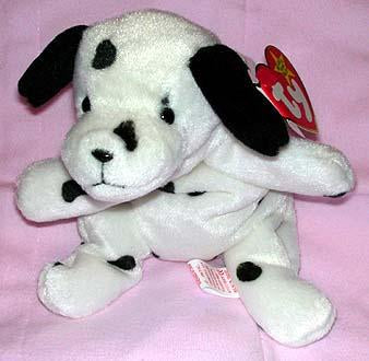 Dotty The Black & White Dalmatian with Black Ears.