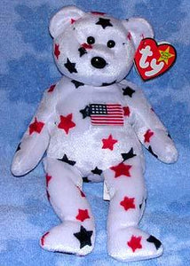 Glory the White Bear With Stars