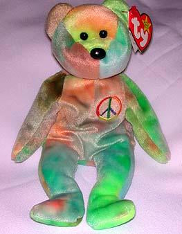 Peace the Tie-Dyed Bear