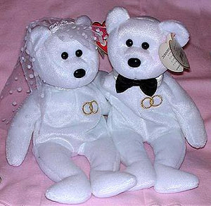 Mr. Groom & Mrs. Bride Anniversary Bears