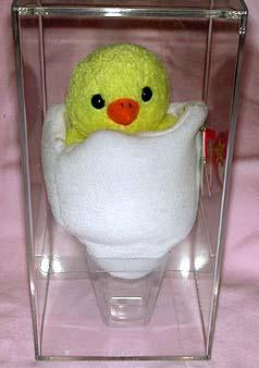 Eggbert the Baby Chick in Egg in Plastic Case.