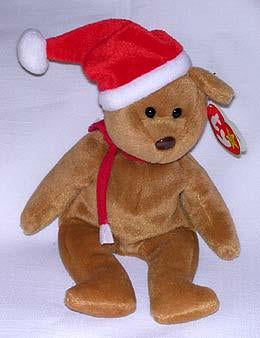 1997 Brown Santa Teddy Beanie