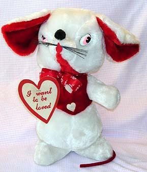 White and Red Mouse Plush Toy