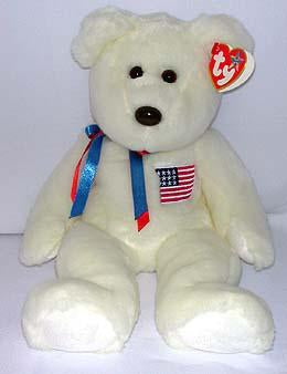Libearty the White Bear with Am Flag (USA Exclusive)