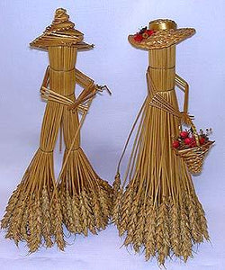 Wheat Stalk Lady and Man