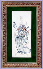 Load image into Gallery viewer, Original Iranian Art Hand Etched and Painted Framed in Iranian Mosaic
